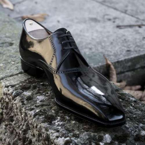 Black Oxford Leather Dress Shoes