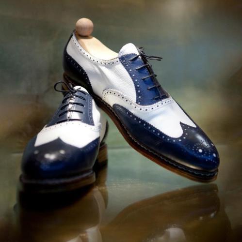 Men's Leather Oxfords Wingtip Formal Shoe