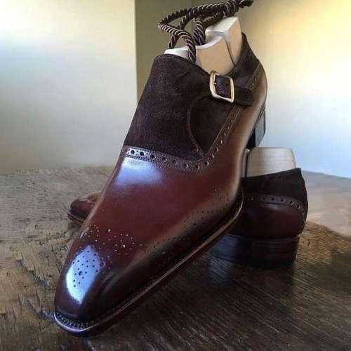 Men's Formal Monk Leather Shoes
