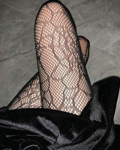 Fishnet Pantyhose Woman Cobweb Stockings