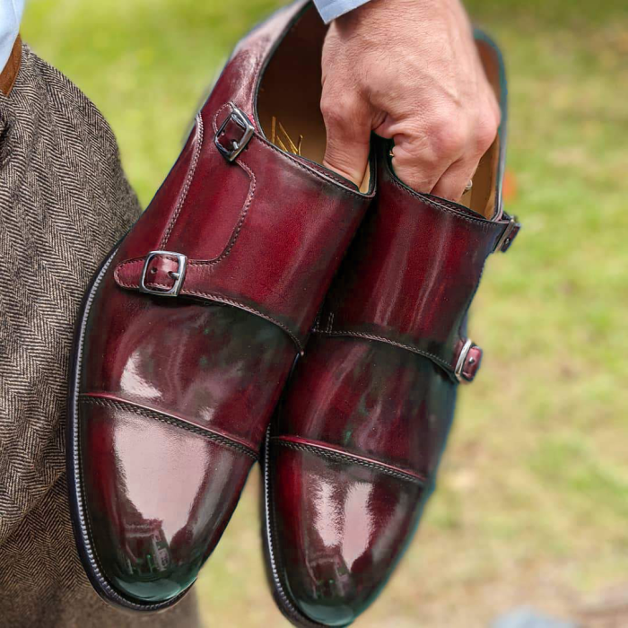 Classy Stunning Blue Double Monk Strap Shoes