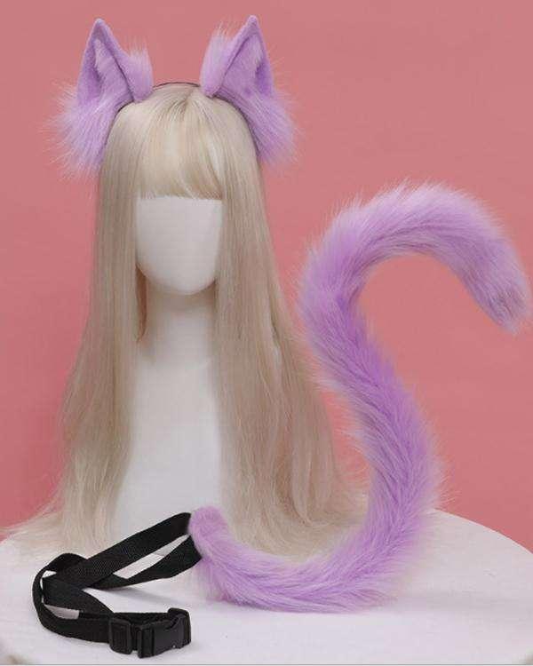 Kawaii Anime Cat Ears Tail Accessories Cosplay Set