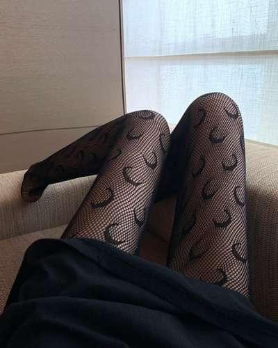 Moon Silk Stockings Sexy Fishnet Tight Fashion Mesh Socks