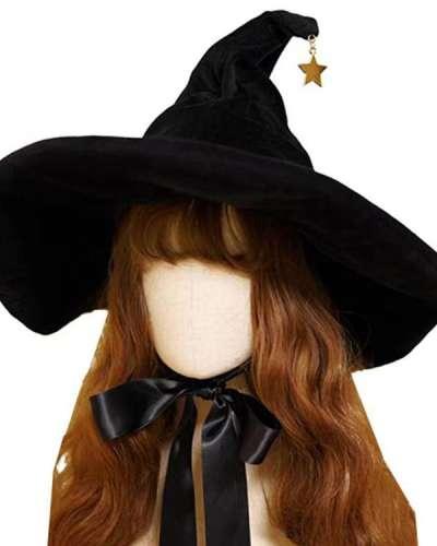 Lolitafashion Suede Tie Bow Witch Hats