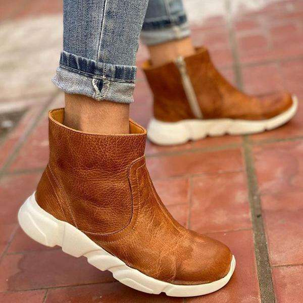 Women's Brown Sports Boots