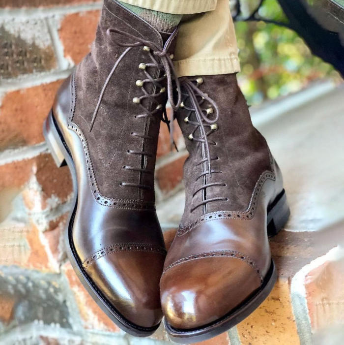 Fashion Casual Leather High Cut Retro Boots