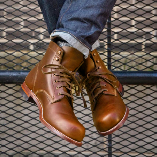 PU Leather Lace Up Combat Ankle Boots