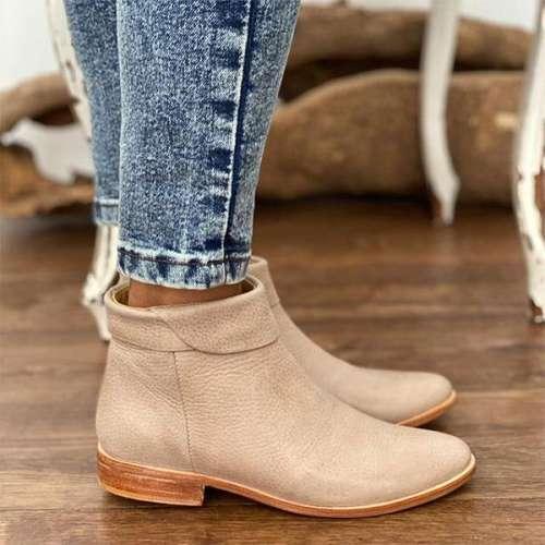 Women Casual Ankle Low Heel Booties