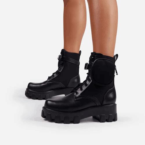 Platform Lace-Up Martin Boots