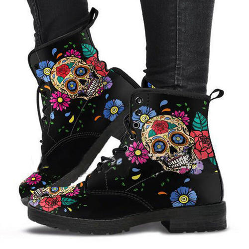 Personality Print Martin Boots