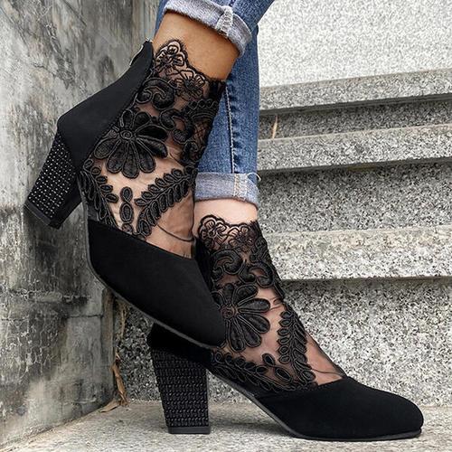Mesh Lace High Heels