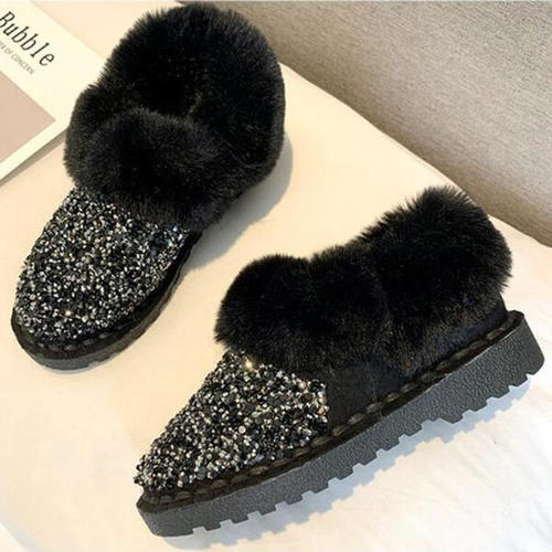 Sequined Snow Boots