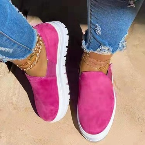 Round Toe Platform Casual Sneakers