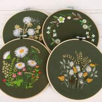 Embroidery Kit For Beginner| Modern Embroidery Kit with Pattern| Embroidery Hoop Plants |Craft Materials Included | Full DIY KIT Dandelion