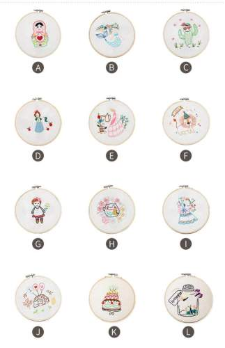 Lucky Cat Embroidery Kit For Beginner, embroidery kit mermaid, cake embroidery kit, diy Kit Embroidery cactus,diy Kit adult