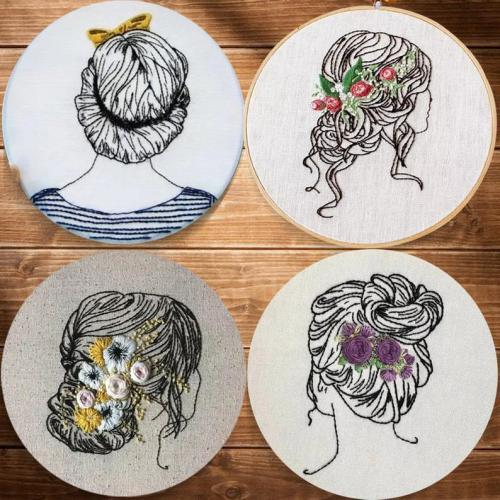 Diy Kit for adults, embroidery kit beginner girl, hair embroidery kit, diy Kit Embroidery,diy Kit adult, Mothers Day