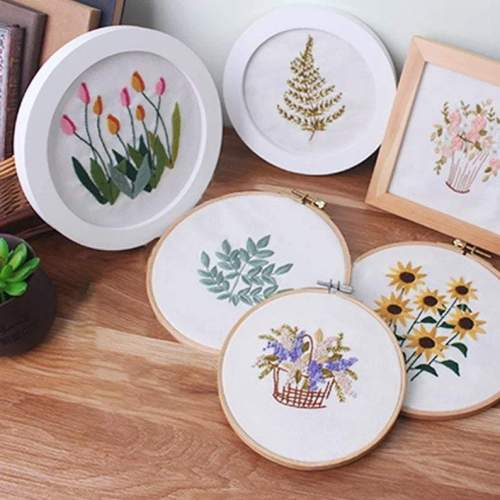 Embroidery Kit Beginner flower, embroidery kit tulip, fern leaf embroidery kit, diy Kit Embroidery,diy Kit adult, Mothers Day