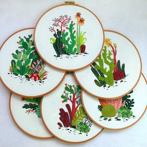 Diy Kit for adults, diy kit embroidery plants, cactus embroidery kit, diy Kit Embroidery,diy Kit adult, Mothers Day