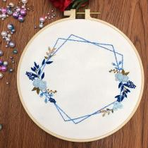 DIY Flower Embroidery Kit beginner, Beginner Embroidery kit, Modern embroidery kit cross stitch, Hand Embroidery Kit, Needlepoint, DIY Craft Kit