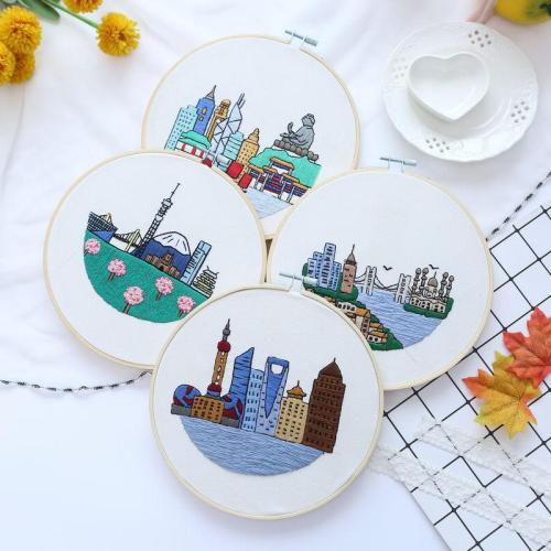 DIY Building Embroidery Kit beginner, Beginner Embroidery kit, Modern embroidery kit cross stitch, Hand Embroidery Kit, Needlepoint, DIY Craft Kit