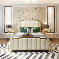 Nordic deluxe double bed American style minimalist postmodern master bedroom ins web celebrity bed