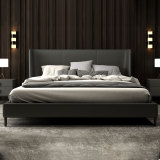 Wenders modern minimalist bed frame, metal, velvet, paint, sofa and solid wood bed online