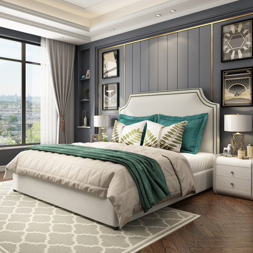 American cloth double 1.8m storage master bedroom wedding bed