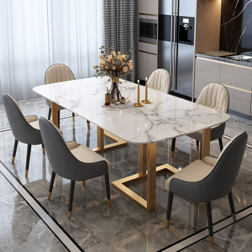 Simple modern dining table in northern Europe