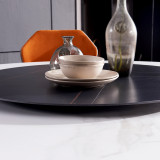 Rock plate dining table round table table modern simple light luxury marble
