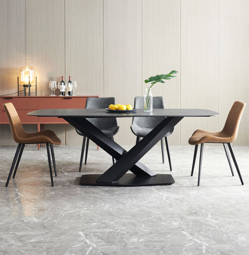 Northern European marble light luxury dining table