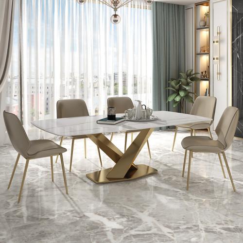 Italian light luxury marble dining table