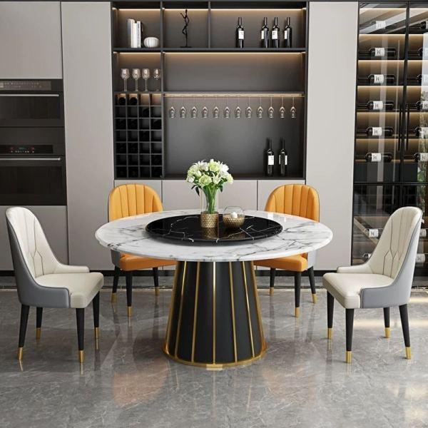 Light luxury marble round table