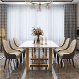 golden stainless steel table