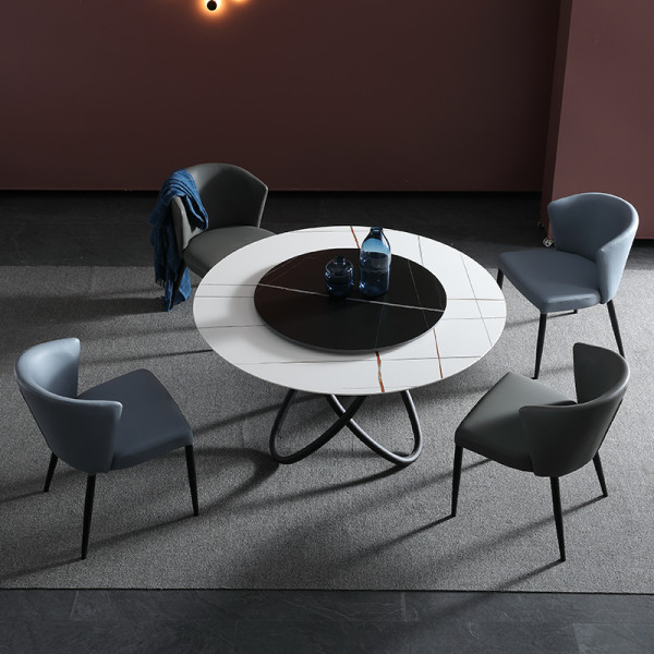 Italian imported marble dining table round table