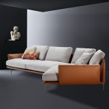 fabric living room curved sofas