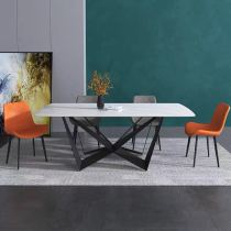 Italian style simple rock plate Marble dining table