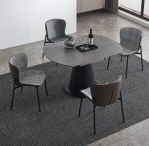 Modern simple light luxury style extremely simple rock plate dining table