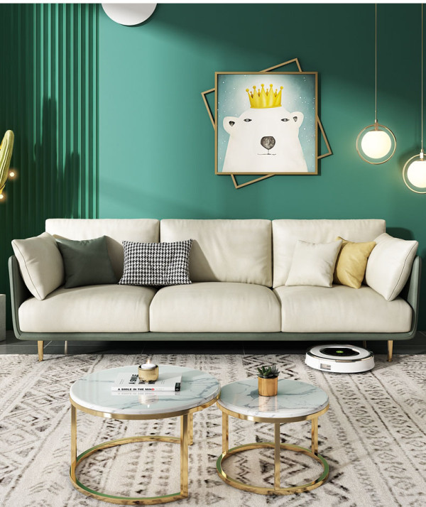 Science and technology fabric sofa luxury in northern Europe