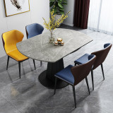 Marble Round Dining Table Set