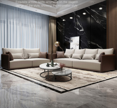 Modern light luxury technology fabric sofa size simple Nordic sofa living room