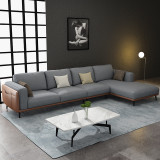 Nordic Light luxury fabric living room sofa simple and modern