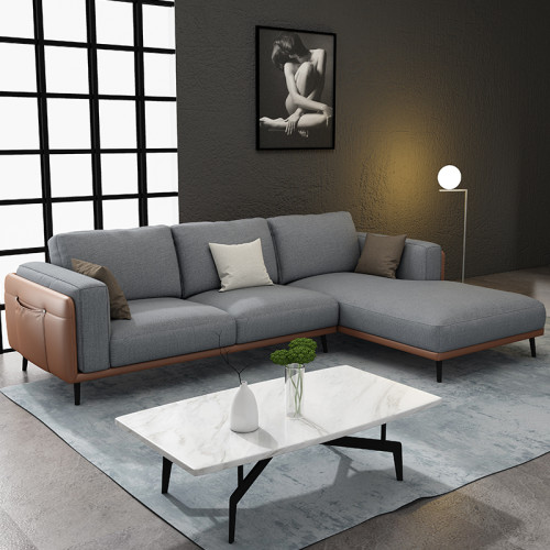 Nordic Light luxury fabric living room sofa simple and modern
