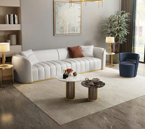 New luxury luxury leather living room villa hotel reception designer furniture sofa customization