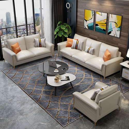 Post modern luxury Microfiber leather sofa Nordic simple living room