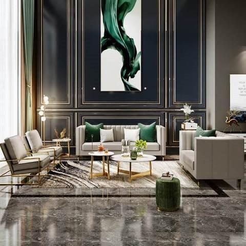 Microfiber leather Nordic luxury sofa harbor style air sofa small family living room