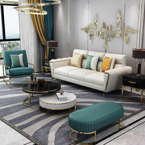 Light luxury sofa modern simple Italian light luxury living room