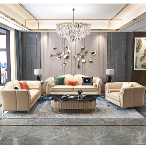 Nordic Light luxury Microfiber leather sofa living room combination