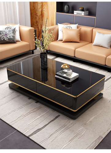Combination of light luxury TV cabinet and tea table