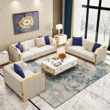 16 years factory modern design luxury furniture fabric sets couch living room sofas
