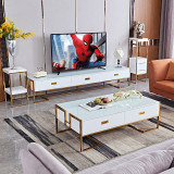 modern design fancy living room table furniture wooden white black coffee table tea table